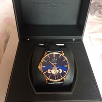 Edox Les Bémonts Automatic Open Heart / Rose PVD with blue...