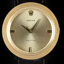 Rolex Yellow gold Manual winding Champagne No numerals 35mm pre-owned Oyster Precision