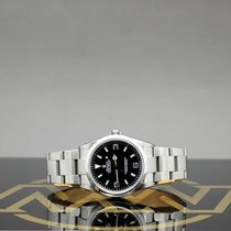 Rolex Explorer Steel 36mm Black No numerals
