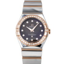 Omega Constellation Quartz Gold/Steel 27mm Brown United States of America, Maryland, Baltimore, MD