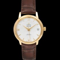 Omega Yellow gold Automatic White 32.7mm new De Ville Prestige