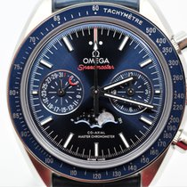 Omega Speedmaster Professional Moonwatch Moonphase Steel 44,25mm Blue No numerals