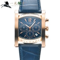 Bulgari Assioma Rose gold 48mm Blue