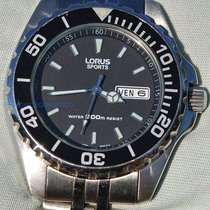 Lorus Steel 49mm Quartz pre-owned