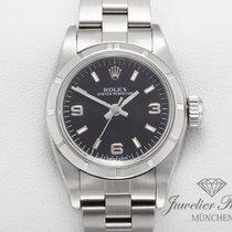 Rolex Oyster Perpetual 26 Stahl Schwarz Arabisch