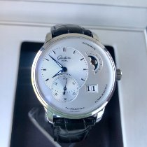 Glashütte Original PanoMaticLunar Steel 40mm Silver No numerals United States of America, New York, Brooklyn