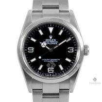 Rolex Explorer Stainless Steel Black Index Dial Smooth Bezel...