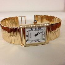 Pianelli Golden Lady Watch Brilliants White Roman Dial (14 krt)