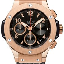 Hublot Big Bang 41mm Rose Gold Black Rubber Unisex Watch