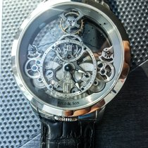 Arnold & Son Time Pyramid Steel 44.6mm Transparent Roman numerals