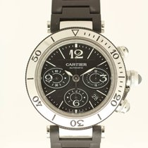 Cartier Pasha Seatimer Chronograph from 2014 with box and papers