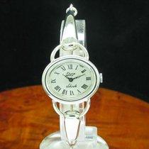 Quinn Scheurle 925 Sterling Silber Handaufzug Damenuhr Silberuhr