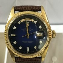 Rolex Diamond dial Day-Date1803 18K Gold Matt Blue Dial