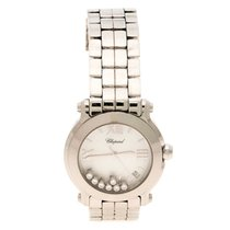 Chopard Mother Of Pearl And Sapphire Happy Sport 8475 Watch