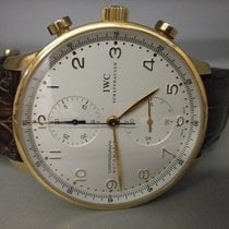 IWC Portuguese Iw371402 18k Rose Gold Auto 41mm Strap Watch...