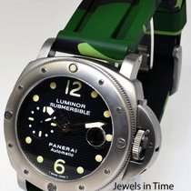 Panerai Submersible Titanium Mens Dive Watch & Case Pam 25 NEW...