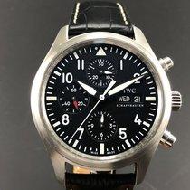 IWC - Der Flieger Chronograph Black Dial- Ref.IW3717 - Men -...