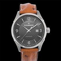 Hamilton Jazzmaster Viewmatic Auto Grey Steel/Leather 44mm -...