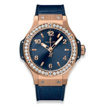 Hublot Red gold Quartz Blue Arabic numerals 38mm new Big Bang 38 mm