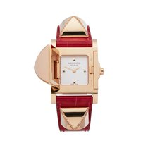 Hermès Médor Rose gold 23mm White