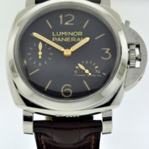 Panerai Luminor 1950 3 Days Power Reserve Сталь 47mm Чёрный Aрабские