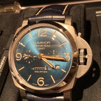 Panerai Luminor 1950 8 Days GMT Titan 47mm Blau Arabisch Schweiz, Courtepin
