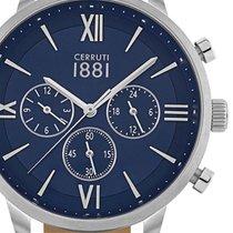 Cerruti Steel Quartz Blue 43mm new