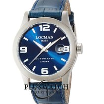 Locman Tremila Steel 40mm Blue Arabic numerals