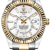 Rolex Sky-Dweller Gold/Steel 42mm White No numerals United States of America, New Jersey, Edgewater