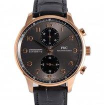 IWC Portuguese Chronograph Rose gold 40.9mm Grey Arabic numerals UAE, Dubai