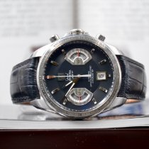 TAG Heuer Grand Carrera Stål 43mm Svart Ingen tall