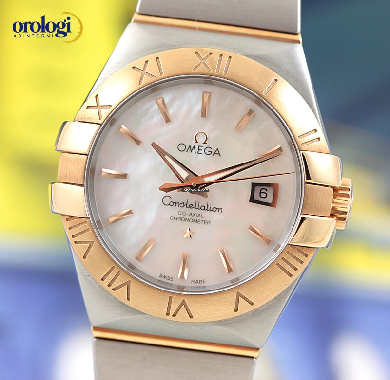Omega Constellation Co-Axial 31mm Steel - Red Gold Watch MOP Dial sold on  Chrono24