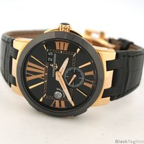 Ulysse Nardin Red gold Automatic Black Roman numerals 43mm pre-owned Executive Dual Time