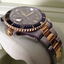 Rolex Oyster Submariner Gold Steel Blue Dial 40 mm (1997)