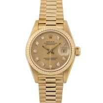 Rolex Datejust President Ladies 18k Diamond Dial, 69178 (Papers)