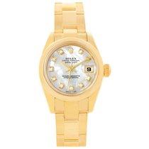 Rolex President Yellow Gold Mop Diamond Ladies Watch 179168...