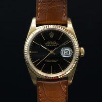 Rolex 16018 Datejust 18k Yellow Gold / Black Dial (27734)