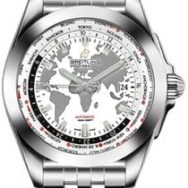 Breitling Galactic Unitime Stainless Steel Antarctica White Dial