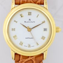 Blancpain Villeret Automatic white roman dial 18K Gold...
