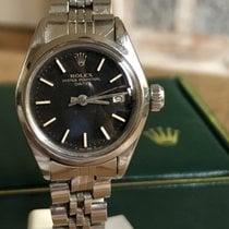 Rolex Oyster Perpetual Lady Date Staal 26mm Zwart Geen cijfers Nederland, Geleen