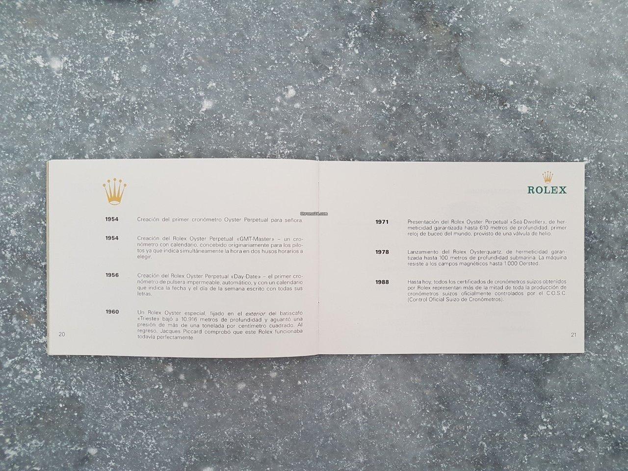 Calendario De 1978.Rolex Su Rolex Oyster Espanol 1989