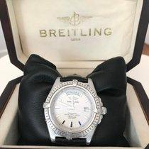 Breitling Galactic 44 Stahl 44mm Silber Keine Ziffern