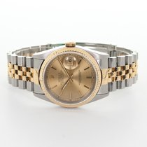 Rolex Datejust pre-owned 36mm Champagne Gold/Steel