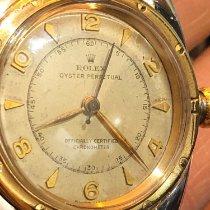 Rolex Bubble Back Золото/Cталь 32mm Aрабские