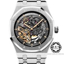 Audemars Piguet Royal Oak Double Balance Wheel Openworked Stål 41mm Transparent Inga siffror