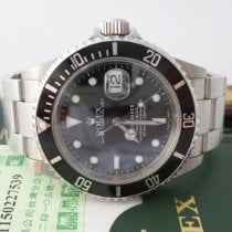 Rolex Submariner Date Stål 40mm Svart Inga siffror