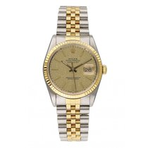 Rolex Datejust pre-owned 36mm Champagne Date Steel
