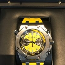 Audemars Piguet Royal Oak Offshore Diver Chronograph Steel 42mm Yellow No numerals