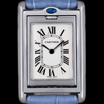 Cartier Tank Américaine pre-owned 24mm Silver Leather