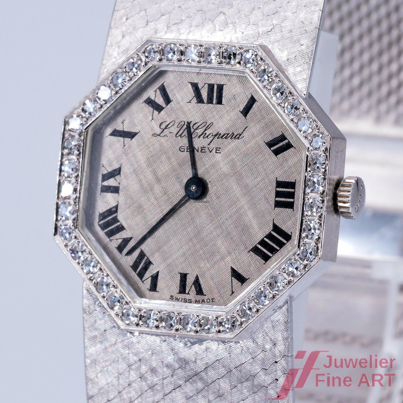 Chopard 40 Diamanten 18k Handaufzug Damenuhr Weißgold tsdrQh